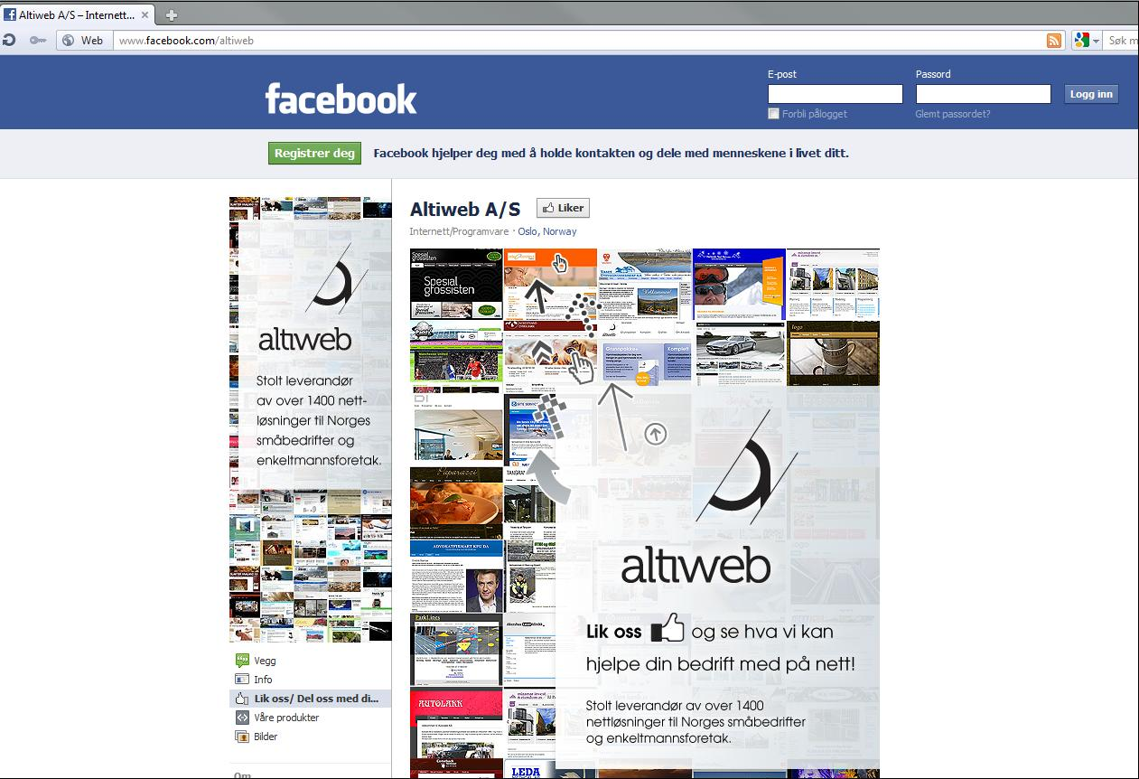 Altiweb Facebook side
