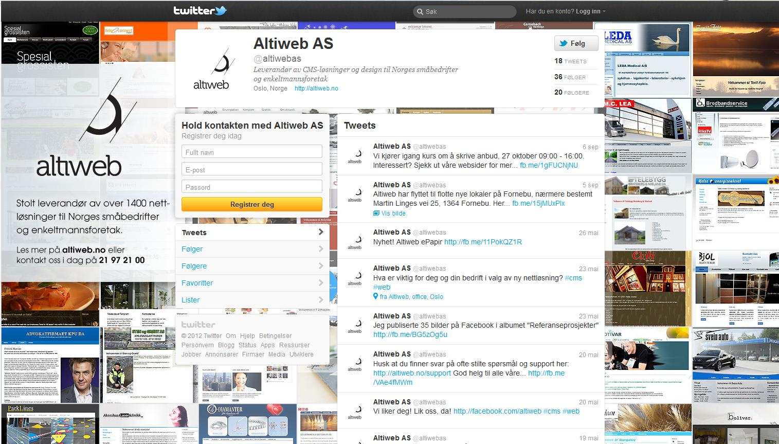 Altiweb AS Twitter